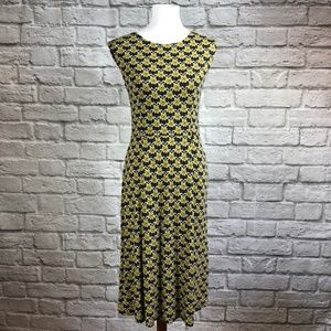 Boden Marina Jersey Dress in Yellow Daisy